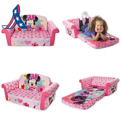 Marshmallow Furniture, Children'S 2 In 1 Flip Open Foam Sofa, Minnie Mouse, By S