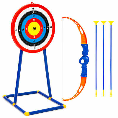 BCP Kids Archery Toy Play Set w/ Bow, 3 Arrows, Target - Multicolor