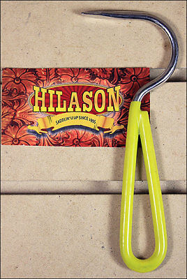 Hilason Horse Tack Zinc Plated Hoof Pick With Vinyl Coated Handle Yellow