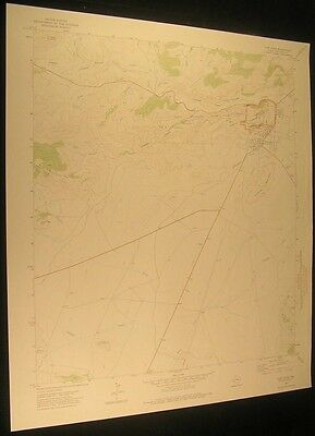 Fort Davis Texas Lone Tree Hill 1975 vintage USGS original Topo chart map
