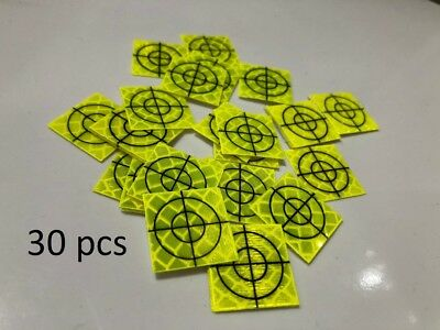 Pack of 30 Yellow Retro Survey Targets 20x20 mm Adhesive For Total Stations EDM
