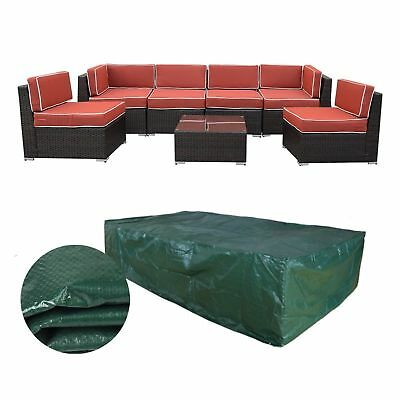 Extra Large Patio Furniture Cover for 7 pieces Rattan Wicker Furniture Sofa Set
