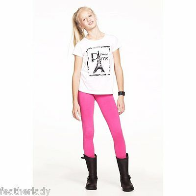 La Redoute KIDS girls fuchia hot pink stretch elasticated leggings Age 14 EU 144