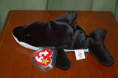 SPLASH the Orca Killer Whale - Ty Beanie Baby - Sea life -  MWMT  - 4th Gen
