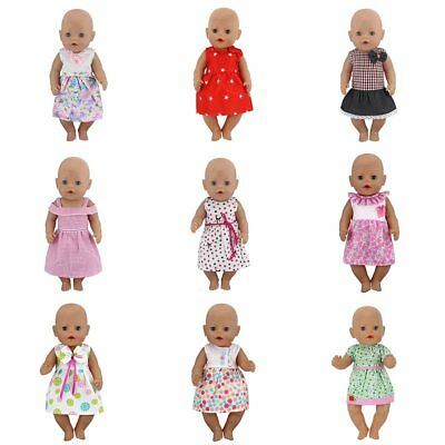 New Dress Wear For 43cm Baby Born Zapf Doll Reborn Babies Clothes HOT