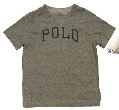 Polo Ralph Lauren Boys Grey Heather Logo Print Crew-Neck Short Sleeve T-Shirt