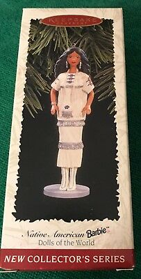 HALLMARK ORNAMENT- Native American Barbie 1996  Pre-Owned; Free Shp