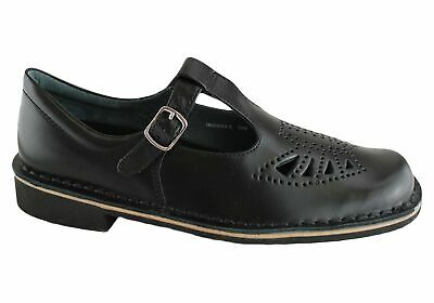 New Harrison Indiana Ii T-Bar Senior And Youths Leather School Shoes