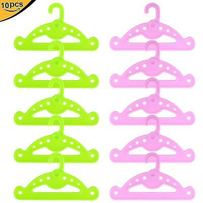 10pcs New Cute for 18 inch Girl Doll Clothes Dress Holder Hangers 14-18'' Dolls