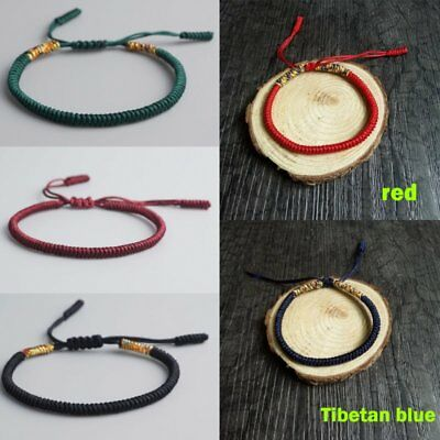 Fashion Women Men Buddhist Love Lucky Charm Tibetan Bracelets Bangles Knot Rope