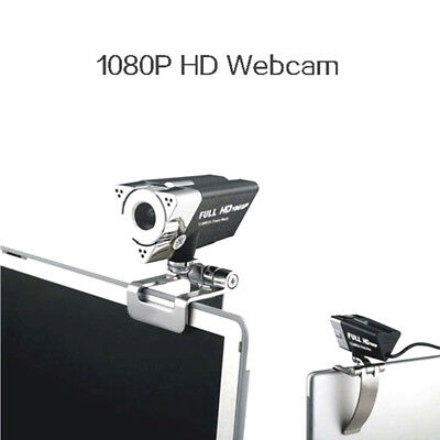 USB 1080P HD USB WebCam Web Camera Video w/ Microphone For Laptop Desktops PC
