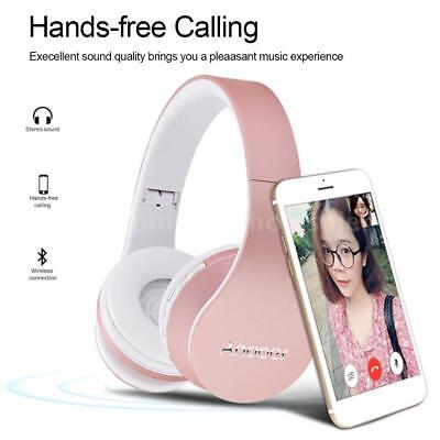 Wireless Bluetooth Foldable Headphones Stereo Headset Earphone FM MP3 SD TF M6N4