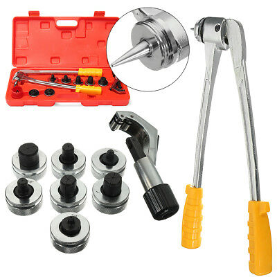 7 Lever Manual Copper Tube Pipe Expander Swaging HVAC Kit Expanding Tool CT-100