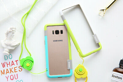 Soft TPU+Plastic Bumper For Samsung Galaxy S10 S9 S8 Plus S10e Case With Lanyard