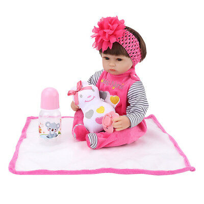 Realistic Reborn Baby Kids PP Cotton Body Soft Silicon Vinyl Limbs Lifelike Doll
