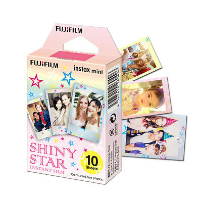 Fujifilm Instax Mini Film Shiny Star 10 Sheets Pictures-Fuji Instant 9 50 70 90