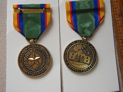 Texas National Guard For Service Us Armed Forces  Medal  Auction Bx J 7