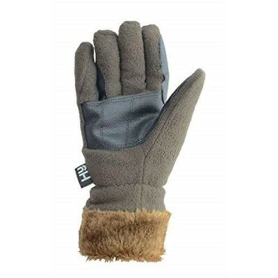 Hy5 Fur Lined Fleece Gloves - Chocolate - Small