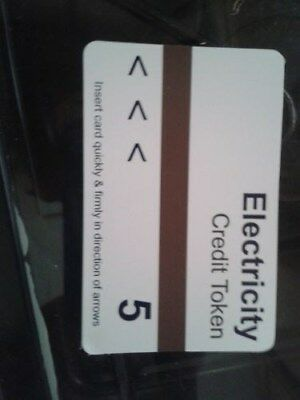 Electric Meter Cards 5 tokens