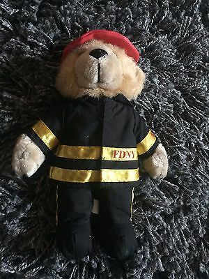 6023f0dc081 Nice plush stuffed brown teddy bear FDNY Fireman Fire Dept New York animal  8