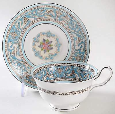 Wedgwood FLORENTINE TURQUOISE Peony Cup & Saucer 6296254