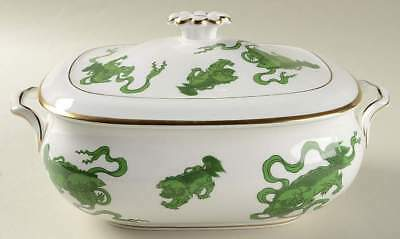 Wedgwood CHINESE TIGERS GREEN Rectangular Covered Vegetable Bowl 781969