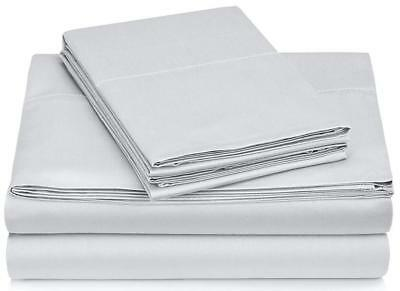 Pinzon 400-Thread-Count Egyptian Cotton Sateen Hemstitch Sheet Set - Queen,...