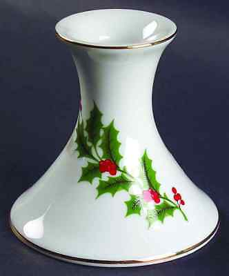 All The Trimmings CHRISTMAS HOLLY (PORCELAIN) Candlestick Holder 6174547