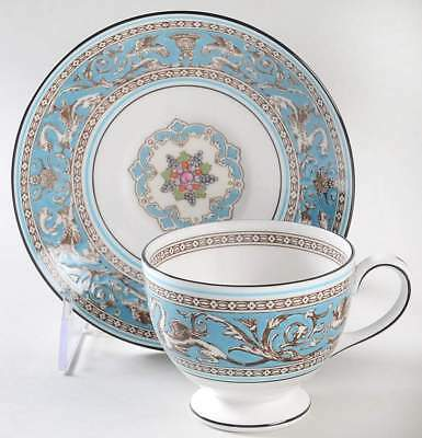 Wedgwood FLORENTINE TURQUOISE Leigh Cup & Saucer 6296251