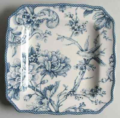 222 Fifth ADELAIDE-BLUE & WHITE Square Salad Plate 8950380