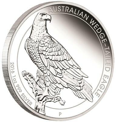 Australien - 1 Dollar 2016 - Wedge-tailed Eagle - 1 Oz Silber PP