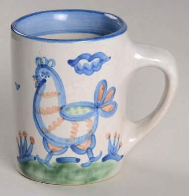 M A Hadley COUNTRY SCENE BLUE Chicken Mug 5757521
