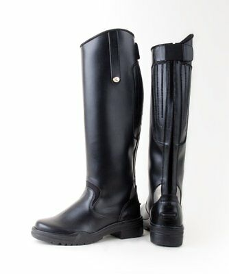 CLEARANCE SALE Rhinegold Nebraska Synthetic Long Horse Riding Boots UK8 £35