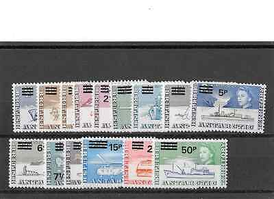 British Antarctic Territory  1971 Scott #25-38 Mint NH set.