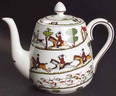 Crown Staffordshire HUNTING SCENE Tea Pot 982083