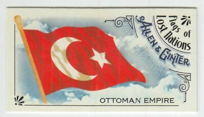 2018 Topps Allen and Ginter Mini Flags of Lost Nations #FLN24 Ottoman Empire