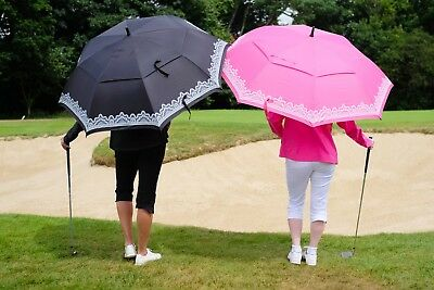 Surprizeshop Ladies Golf Umbrella. Pink or Black Available.