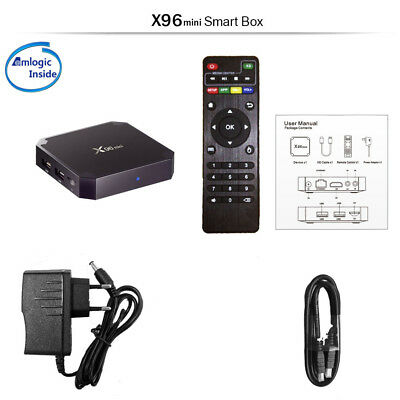 X96mini Web Player Quad Core 2GHz HD 4K 2K Android 7.1 Smart Tv Box 2GB+16GB