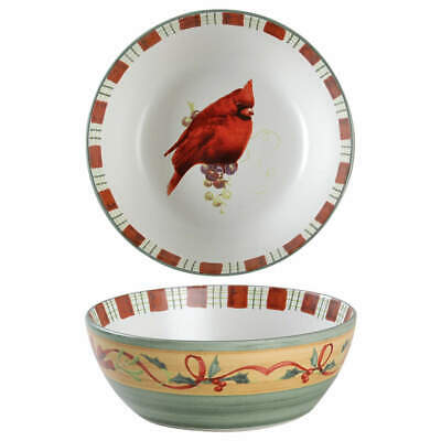 Lenox WINTER GREETINGS Cardinal All Purpose Cereal Bowl (Imperfect) 9492409