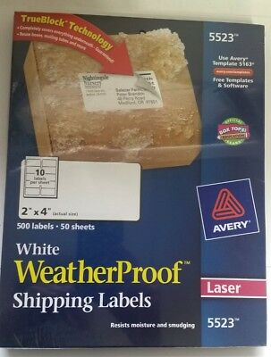 pres a ply avery dennison laser shipping labels 2 x 4 1 4 clear