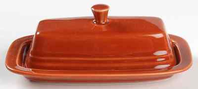 Homer Laughlin FIESTA PAPRIKA (CONTEMPORARY) 1/4 Lb Covered Butter Dish 8592372