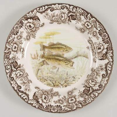 Spode WOODLAND Large Mouth Bass Dinner Plate 7921899