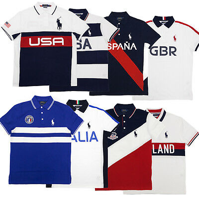 fa9438af9 POLO RALPH LAUREN Men s Custom Slim Fit Big Pony Country Patch Shirt ...