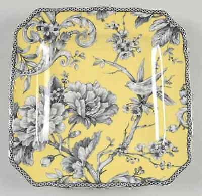 222 Fifth ADELAIDE-YELLOW Square Salad Plate 9437394