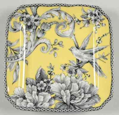 222 Fifth ADELAIDE-YELLOW Square Appetizer Plate 9437395