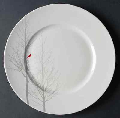 222 Fifth RED CARDINAL Dinner Plate 9959424