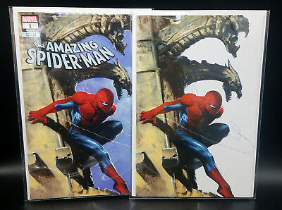 Amazing Spider-Man #1 802 2018 Dell'Otto Exclusive Variant Cover TD + Virgin Set
