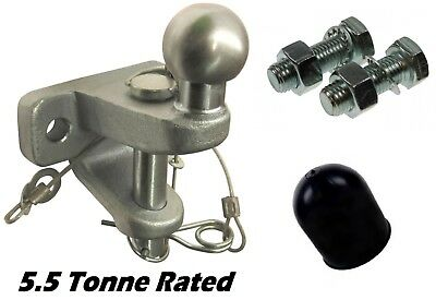 5500kg ball and pin jaw towing hitch coupling supplied with bolts & ball cap