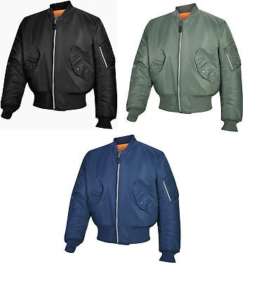Valley Apparel Men's Military Manufacturer MA-1 Bomber Jacket Made in the USA