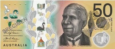 2018 Reserve Bank of Australia Lowe/Fraser $50 Polymer Banknote - Uncirculated